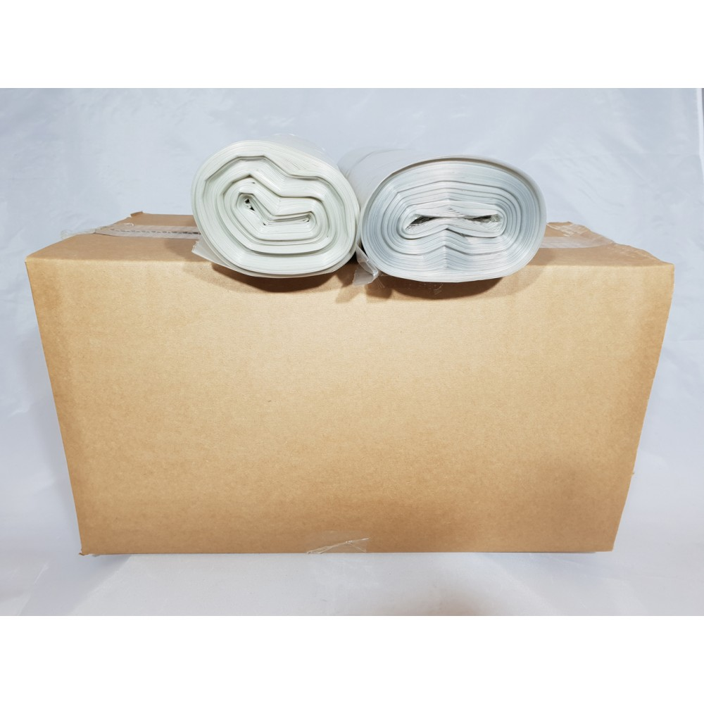 Biodegradable Heavy Duty Clear Refuse Bags On Roll - 200 Bags Box