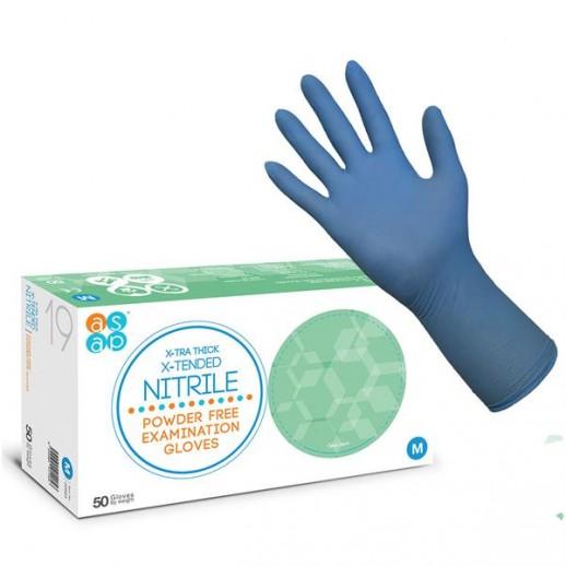 ASAP X-Tra Thick X-Tended Nitrile Powder Free Examination Gloves