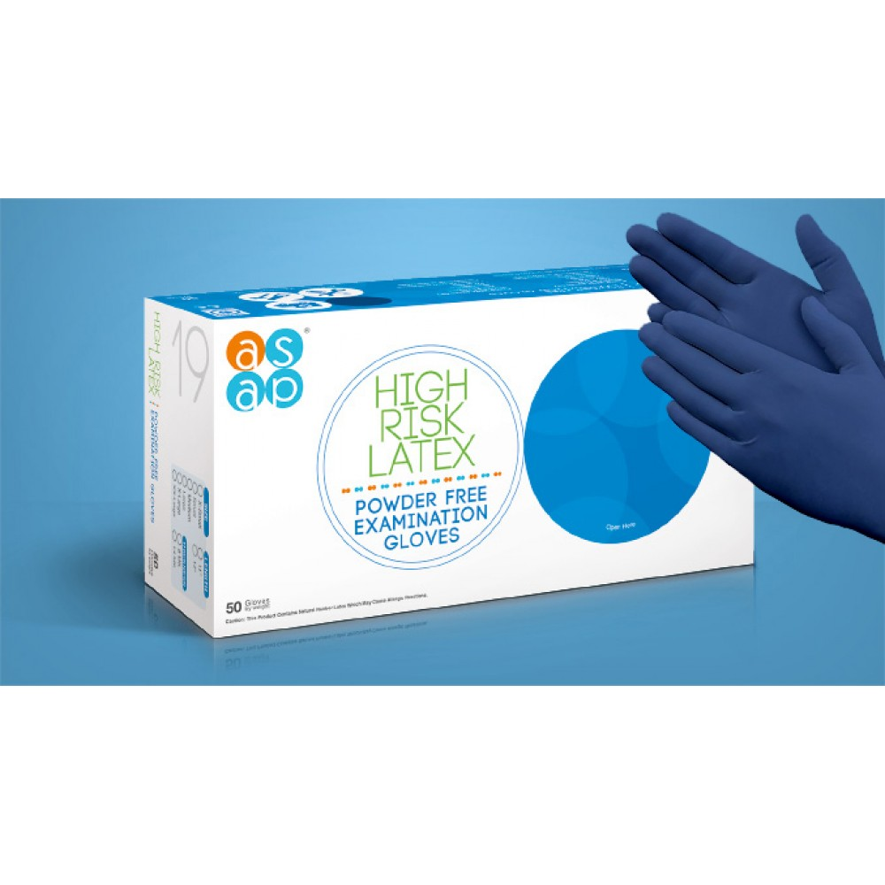 ASAP High Risk Latex Gloves / 18.5G Heavy Duty All Day Glove