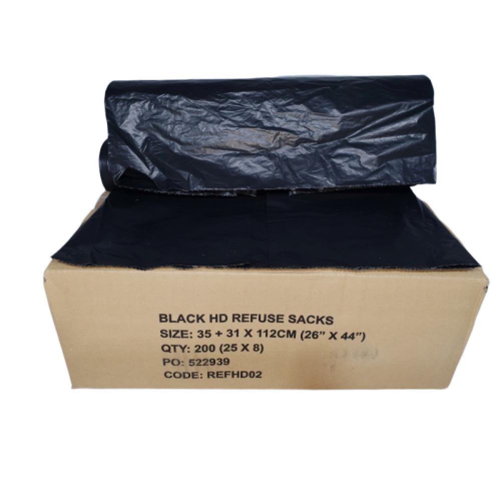 Biodegradable Black Refuse Bags - Economy Class - Box Of 200 Bags