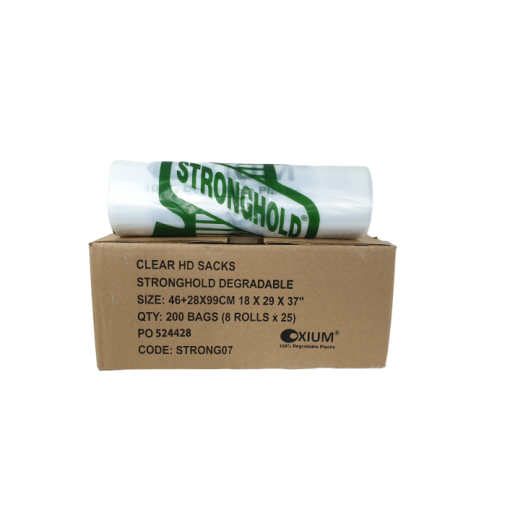 Stronghold Biodegradable Clear Bin Bags
