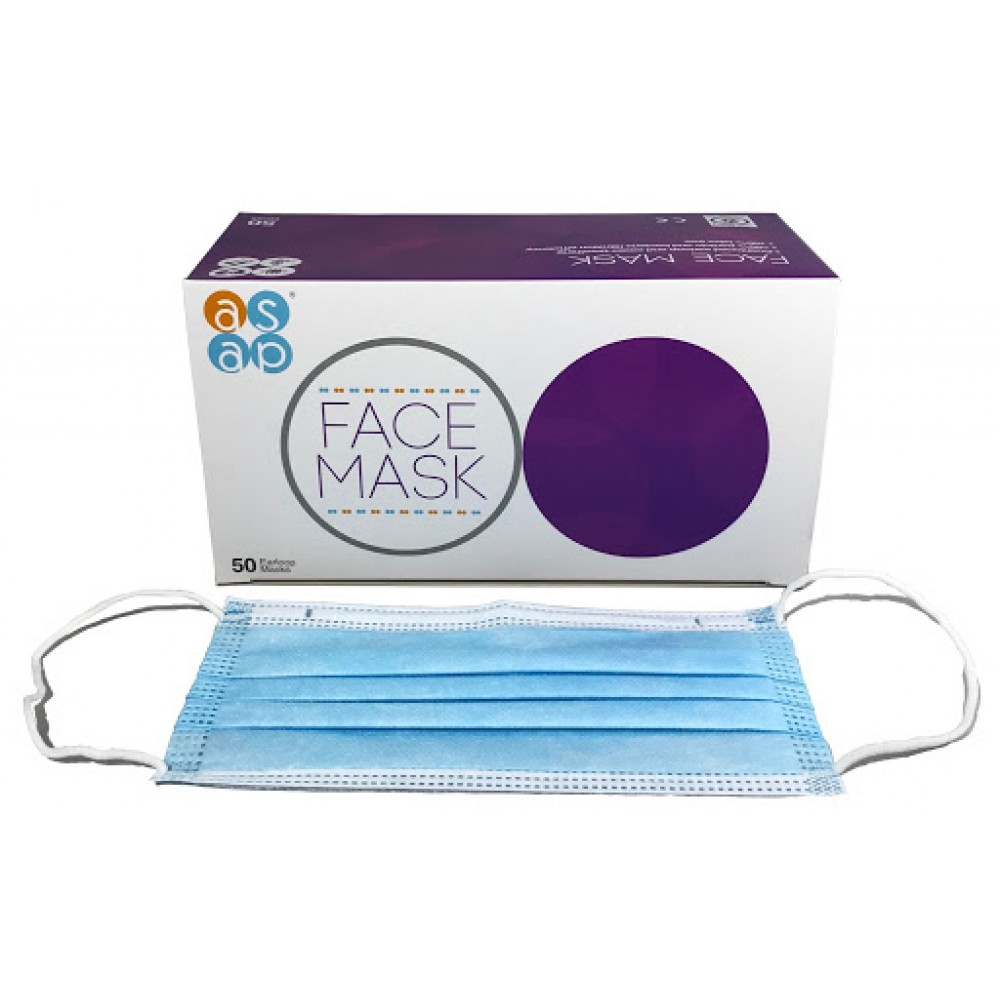 ASAP Face Mask 3 PLY / Non Woven / Box Of 50 Masks