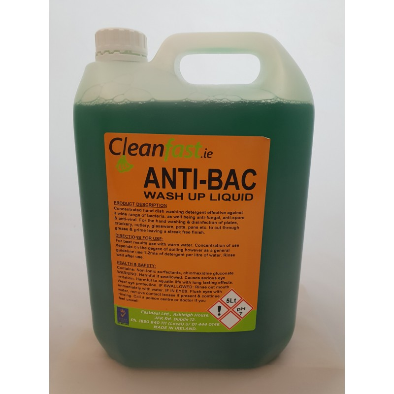 Washing Up Liquid Cleanfast Anti Bac Wash Up Liquid 5l