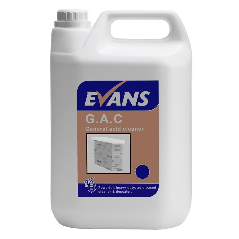 Exterior Cleaning Products Evans G A C General Acid
