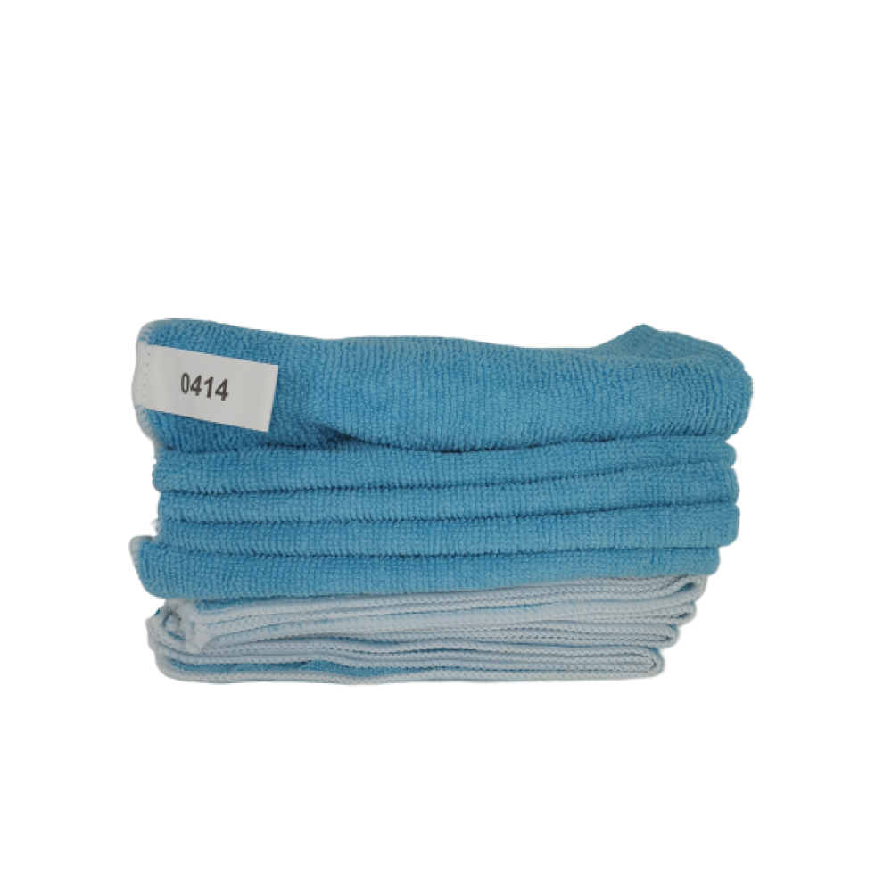Blue Microfiber Cloth 40 cm x 40 cm Blue / 220 GSM