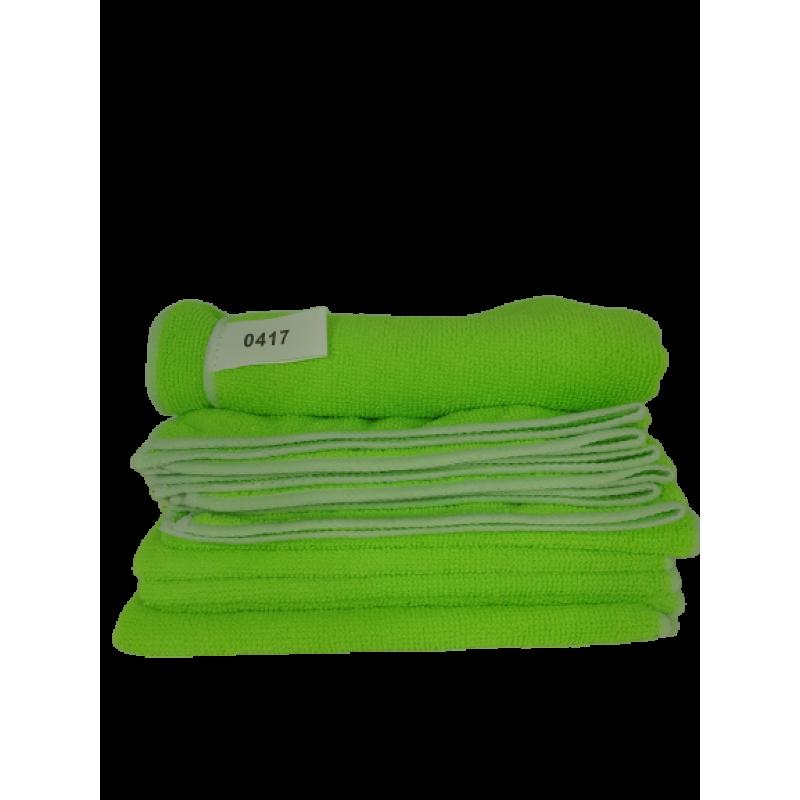 250 Gsm Microfiber Cloths Green Microfiber Cloth 40 Cm