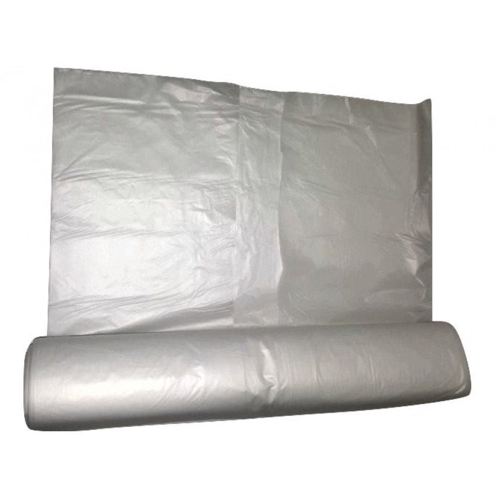 "Biodegradable Clear Refuse Bag - Economy Range - 22 Micron - 26"" x 44"" - 1 Roll Of 25 Bags"
