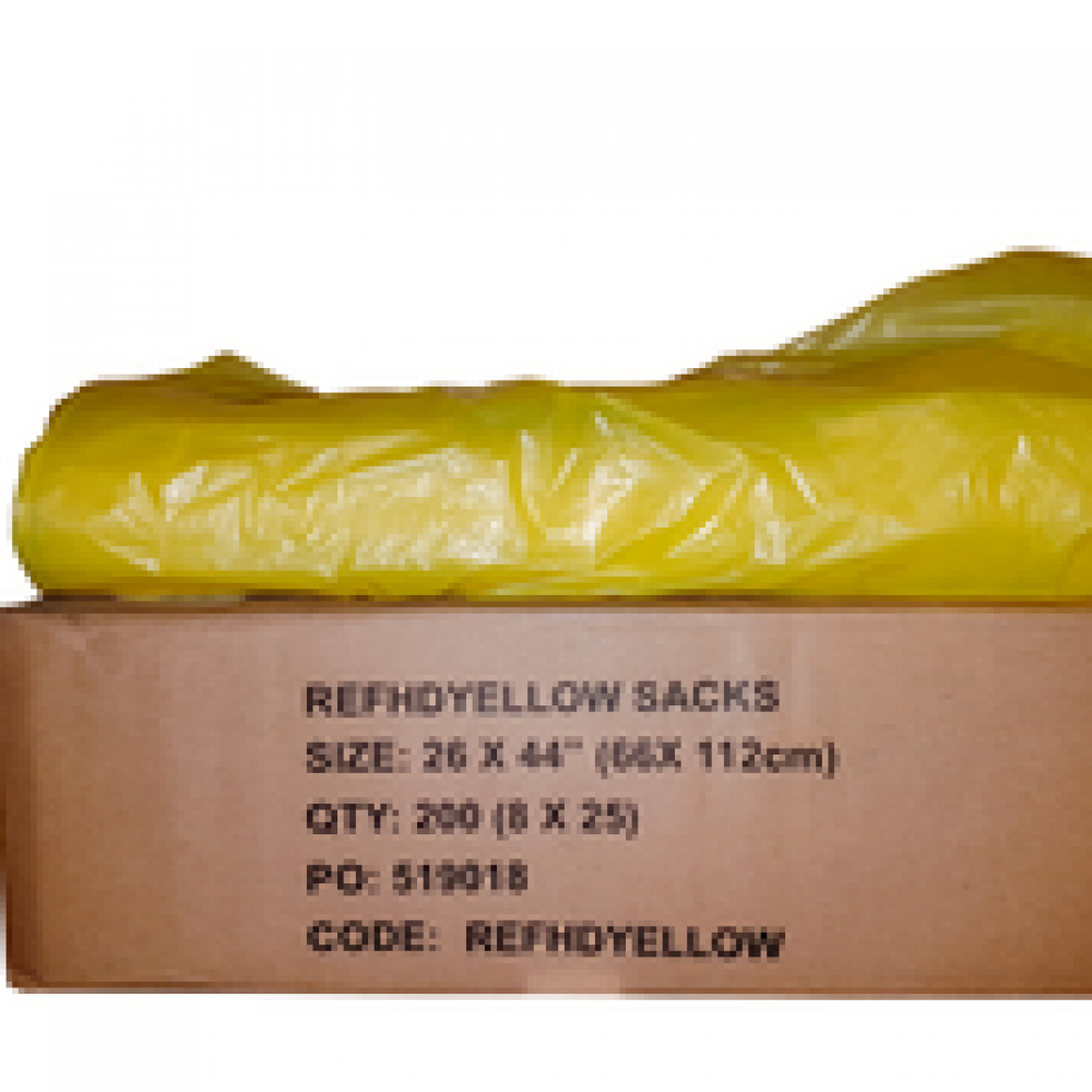 Biodegradable Yellow Bin Bags X 200 Bags Per Box