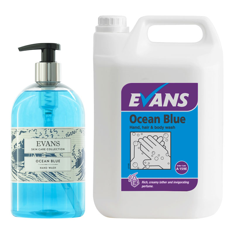 Evans Ocean Blue Hand & Body Wash